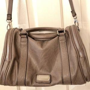 Large Madden Girl Split Top Handle Handbag Gray